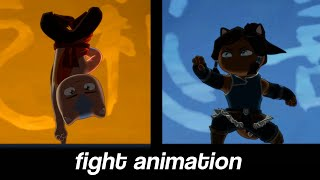 Animator shows what it would look like if AANG fought KORRA - Avatar: The Last CATbender
