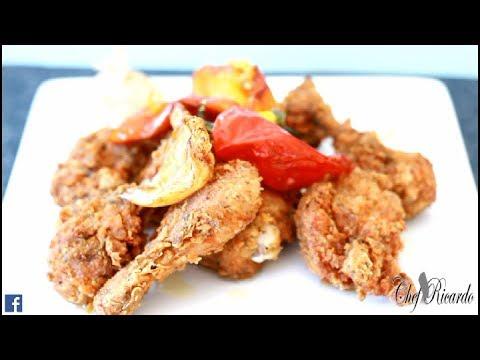 Fried Chicken Recipe with GARLIC & PEPPER