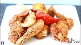 Fried Chicken Recipe With Garlic & Pepper | Recipes By Chef Ricardo