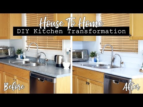 DIY Kitchen Transformation! || HOUSE TO HOME SERIES!