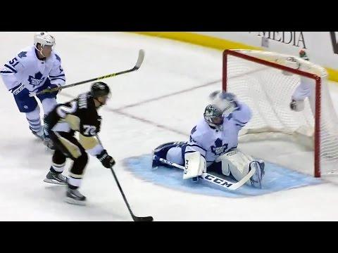 Bernier robs Hornqvist with stellar glove save