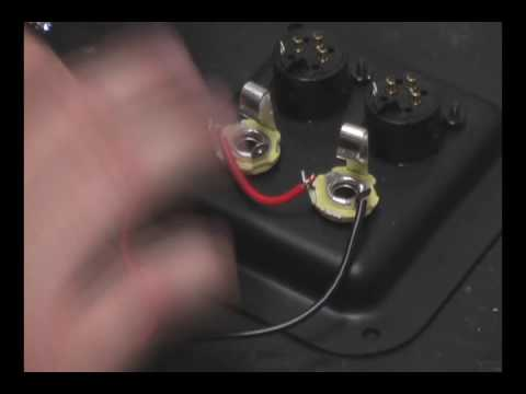 how to wire and solder 2 1 4 speaker jacks in parallel youtube rh youtube com Guitar Jack Wiring Speaker Jacks and Plugs