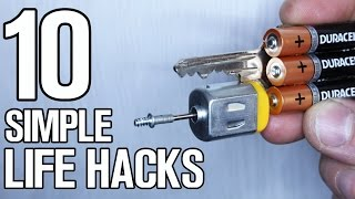 10 Simple Ideas - DIY Life Hacks