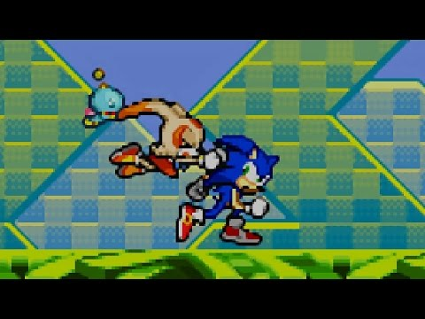 Sonic Advance 2 - Part 1 - Leaf Forest Zone - Egg Hammer Tank II - Special Stage 1