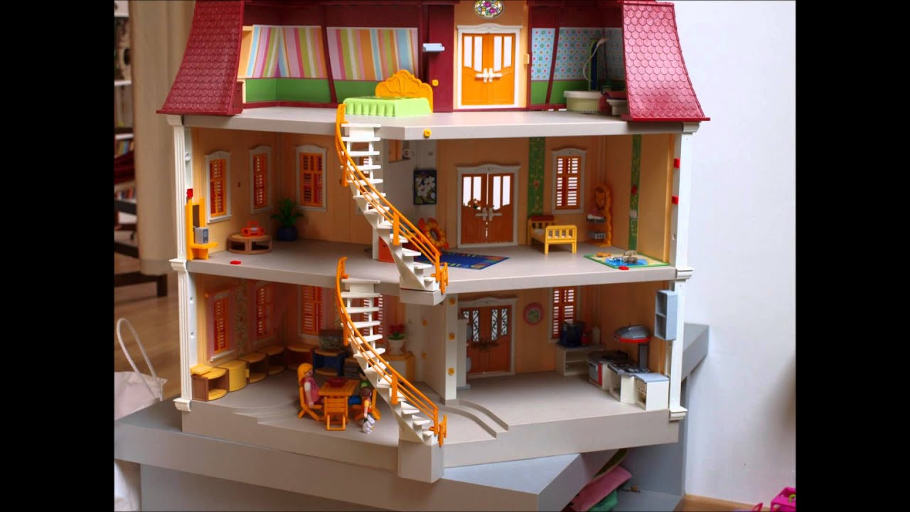 Une journ e dans la grande maison des playmobil youtube for Maison du monde urne