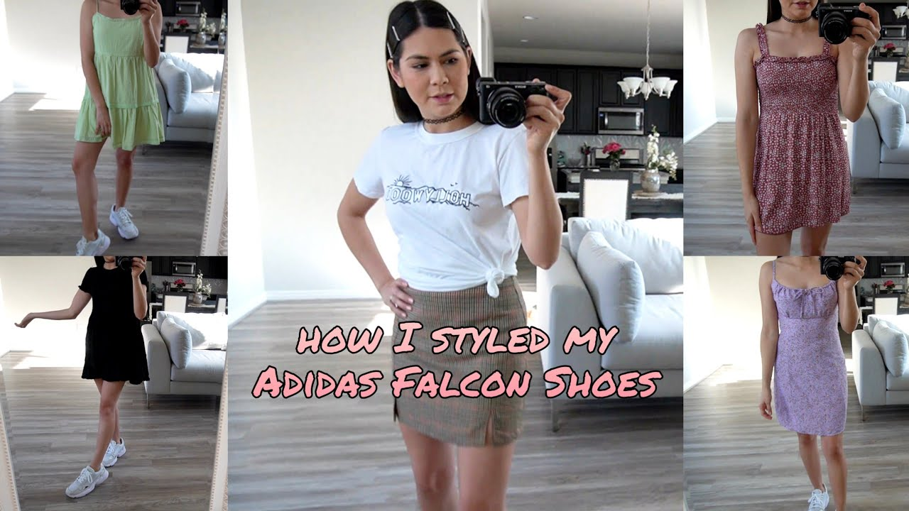 How I Styled My Adidas Falcon Shoes