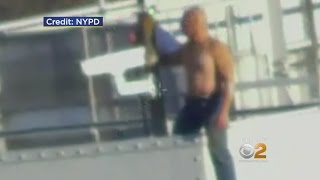 Shirtless Man Dangles From NJ Tower