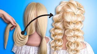 Легкие и Быстрые Прически на каждый день. Самый простой способ заплести косы. Прически на 1 сентября