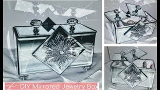 DIY Dollar Tree Glam Mirror Jewelry Box | DIY Glam Decor | Room Decor