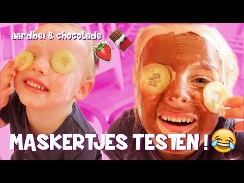 GEZICHTSMASKERS TESTEN!! [chocolade & aardbei] ♥DeZoeteZusjes♥