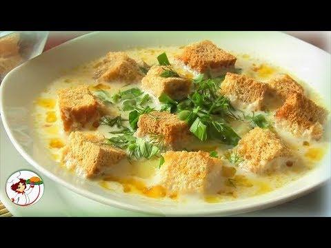 Вкуснейший крем-суп с гренками и грибами! Ну, очень вкусно!