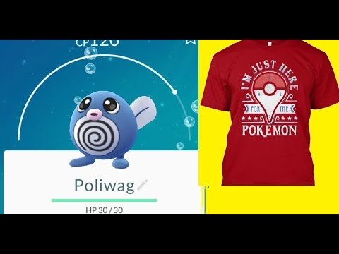 9cc4b3cd Pokemon Go Skills - How to easily catch a Pokemon Poliwag by throwing a ball