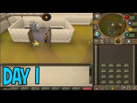 Runescape: 10 Days, 20 Minutes Marathon - How I Got Hacked! - Day 1