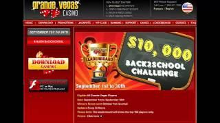 Grande Vegas Casino Back2School Bonuses and Slots Tournament