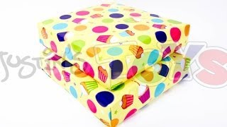 How to Gift Wrap Diagonally - Hack to Save Paper Tutorial
