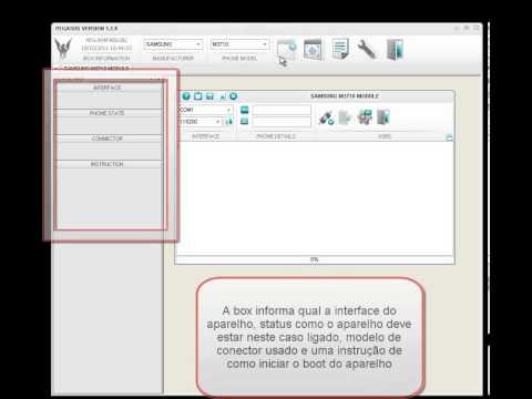 Procedimento de Desbloqueio via código aparelho Samsung M3710 pegasus box