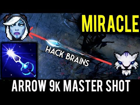 Arrow 9k Master Shot ► Miracle Hack- Brains with Mirana 7.06f Dota 2