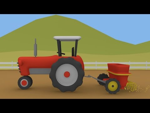 Thumbnail: Tractor and Seeder | Animation Tractors for Children | Traktor i Siewnik | Animacje Traktory