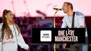 Gambar cover Chris Martin and Ariana Grande - Don't Look Back In Anger (One Love Manchester)