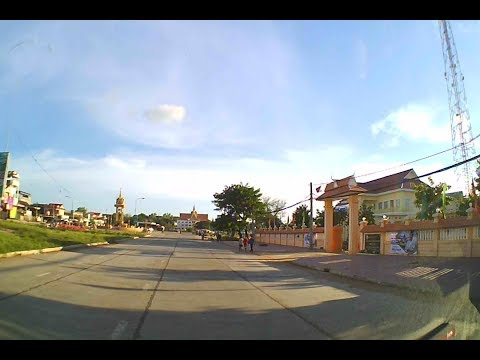 Cambodia Highway - Kratie province to Stung Treng Province