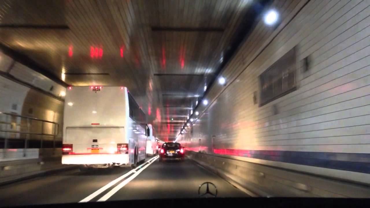 Lincoln Tunnel Nj To New York City Night Drive Nyc Youtube