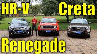 Comparativo: Honda Hr-V X Jeep Renegade X Hyundai Creta