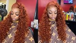 Burnt Orange Copper Hair Color 🍂🍁 | Alipearl Hair 🧡|