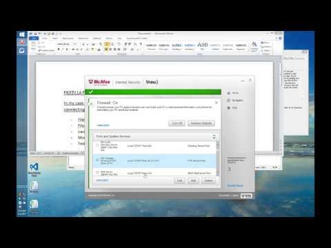 Filezilla FTP server on Windows - 425 problem