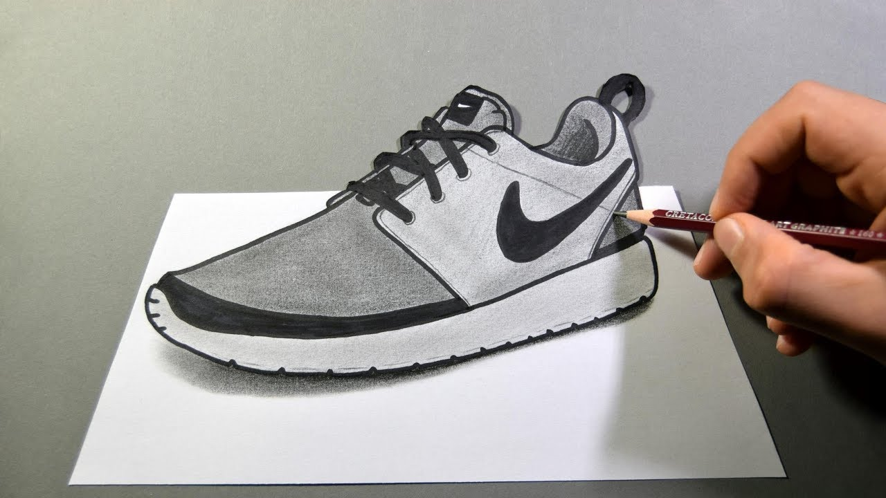 how to draw nike shoes in 3d youtube