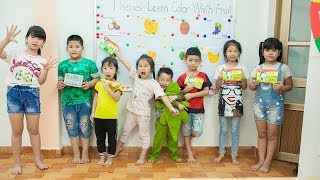 Kids Go To School | Chuns And Best Friends Learn The Names Of Fruits Creativity Of Children