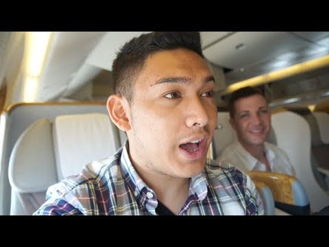 GOING HOME, DUBAI TO SEATTLE ON EMIRATES BOEING-777 BUSINESS CLASS - Dubai 2014 (Day 5) - ohitsROME