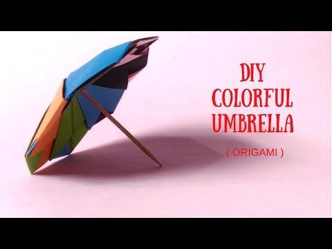 How To Make a Paper Umbrella | DIY Colorful Umbrella | InnoVatioNizer