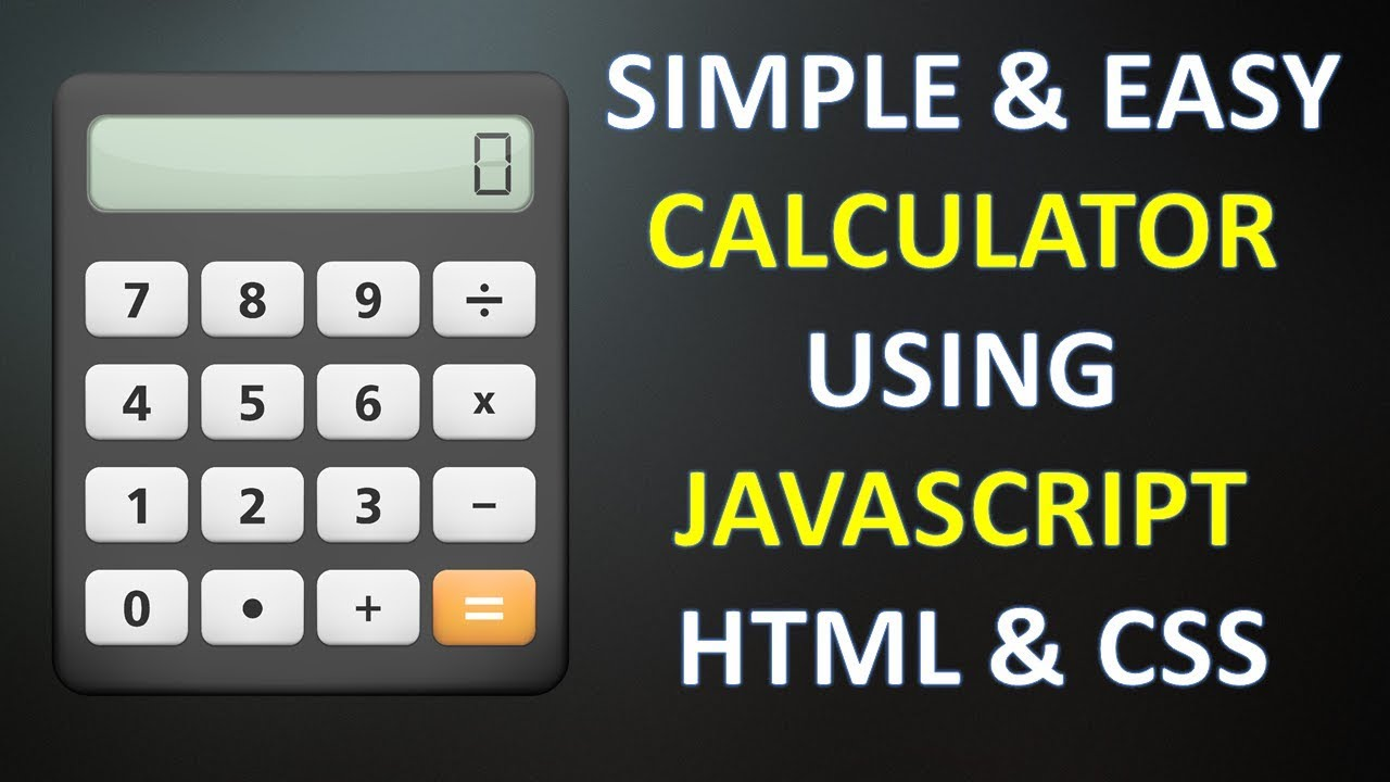 Create simple calculator using javascript html and css in hindi 2017