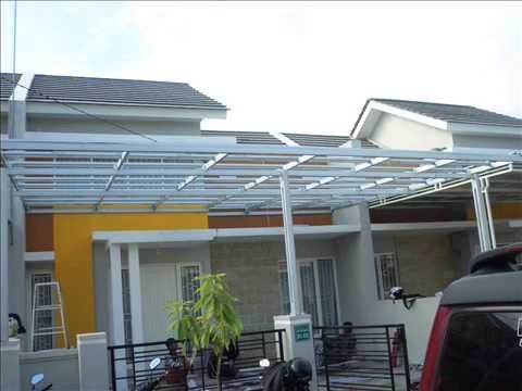 baja ringan teras rumah pemasangan kanopi untuk minimalis youtube