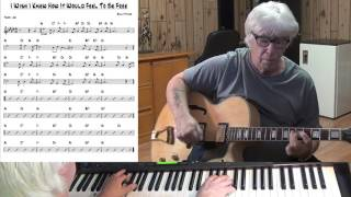 I Wish I Knew How It Would Feel To Be Free - Jazz guitar & piano cover (Billy Taylor)