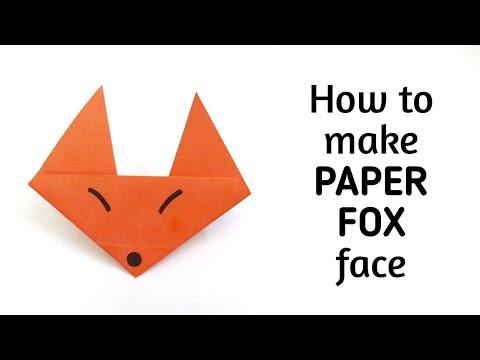 Fox Crafts For Kids Step By Step