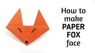 How to make an origami paper fox | Origami / Paper Folding Craft, Videos and Tutorials.