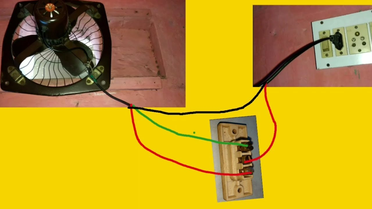 Exhaust Fan - Two Way Switch Connection Diagram