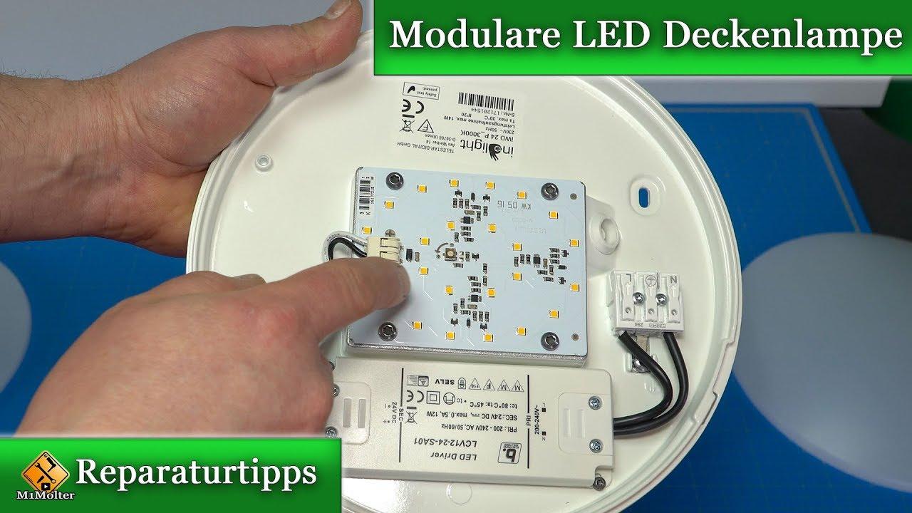 Berühmt Modulare LED Deckenlampe / Inolight iWD 28 FB -Leuchtmittel und SA66