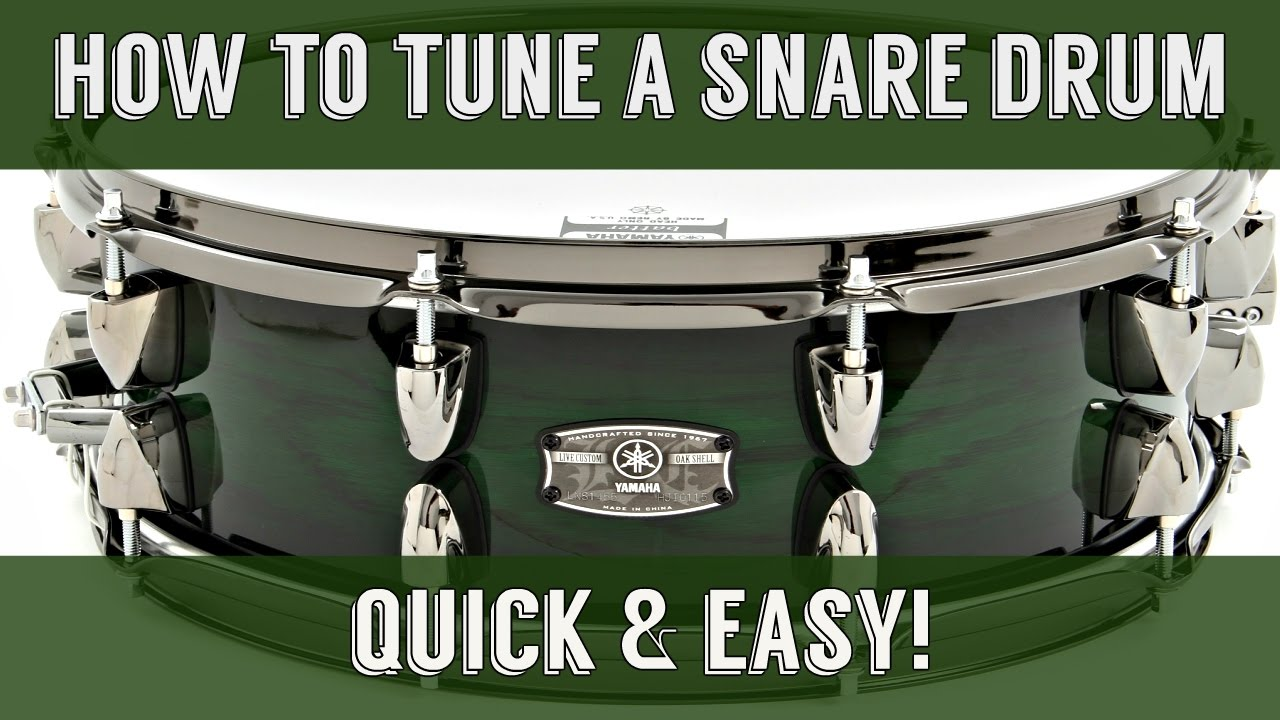 How To Tune A Snare Drum EASY & QUICK (Original 2011 Video ...