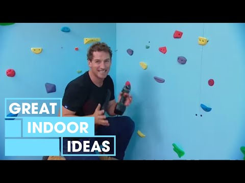 Build A DIY Climbing Wall For Kids | Indoor | Great Home Ideas
