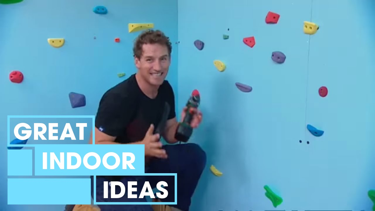 Build A Diy Climbing Wall For Kids Indoor Great Home Ideas Youtube