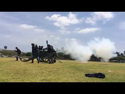 Civil War Canon Day at McPherson Magnet School