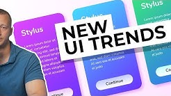 New UI Design Trends - Vibrant Gradients & Colored Drop Shadows!