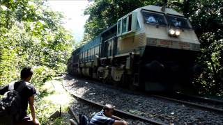 Extreme Machines of Indian Railways passing through dense forests of GOA!