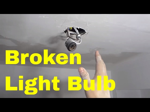 How To Remove A Broken Light Bulb Base-EASY Tutorial