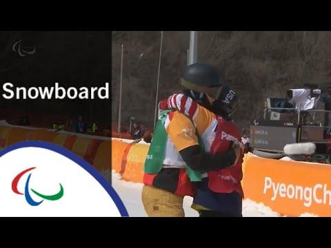 Mike MINOR VS. Mikhail SLINKINSnowboard cross  Snowboard  PyeongChang2018 Paralympic Winter Games