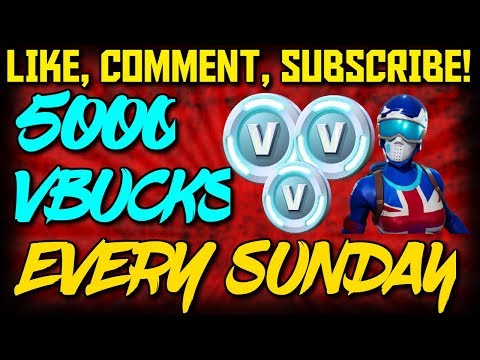 FORTNITE 5000 V-BUCKS GIVEAWAY EVERY SUNDAY (ALL PLATFORMS)