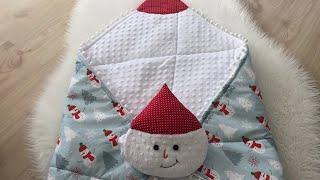 Snowman Patterned Babynest Quilt | Kardan Adam Desenli Kundak Yorgan (PART 1)