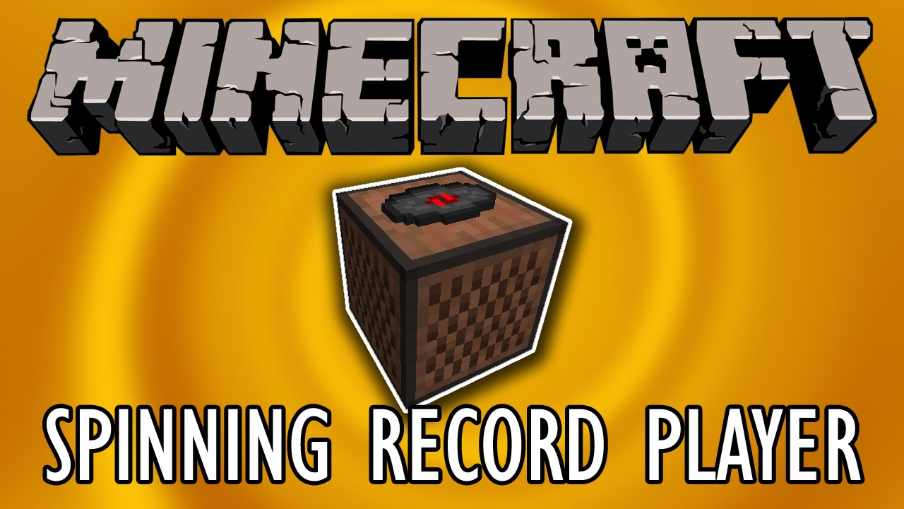 Spinning Record Player Minecraft Tutorial